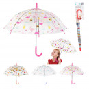 wholesale Umbrellas: transparent child umbrella prints, 3-fold assor