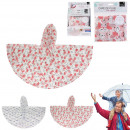 wholesale Headgear: child rain cape with patterns, 2- times assorted