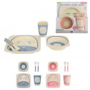 bamboo child meal set x5, 2- times assorted