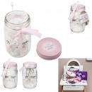 Mason Jar pamut tárcsa pamut rózsaszín, 2 szer szo