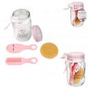 ingrosso Casalinghi & Cucina: barattolo di vetro speciale bellezza rosa