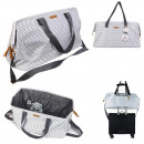 wholesale Miscellaneous Bags: family weekend bag 33x25x55cm white