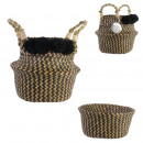 basket braid handles and pompons 23cm