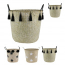 wholesale Household & Kitchen: Rigid braid basket in seagrass 40x50cm, 3-faith