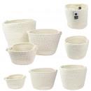 white coton storage bin and gold fiber x3, 1-time