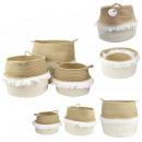 wholesale Home & Living: basket storage fringe and fiber x3, 1-time