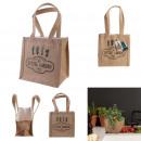 plastic jute planting bag h18cm garden