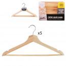 wooden hanger x5