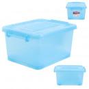 blue plastic storage box 17l