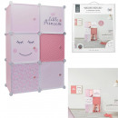 modular cabinet storage 6 cubes girl