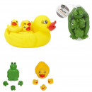 Bath toy animals x4, 2-fold assorted
