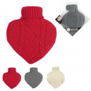 bouillotte 1l heart wool, 3- times assorted