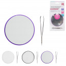 mirror with tweezers, 3-times assorted