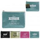 glitter case 19.1x12.8cm, 4- times assorted