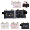 wholesale Bags & Travel accessories: cat pouch 15x18cm, 3- times assorted