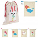 wholesale Miscellaneous Bags: canvas pajama bag 35x27cm, 4- times assorted