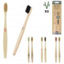 bamboe tandenborstel x2, 3- maal geassorteerd