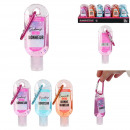 cleansing hand gel with carabiner 30ml, 3-fold a