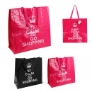 wholesale Shopping Bags: Bag shopping keep calm, 2-fold assorted