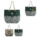 wholesale Bags & Travel accessories: tote bag natural life, 2- times assorted