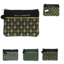wholesale Travel Accessories: velvet pouch 20x15cm, 3- times assorted