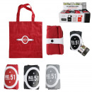 wholesale Bags & Travel accessories: foldable shopping bag 45x39cm, 3- times assorted