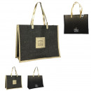 jute bag 36x47x19cm, 2- times assorted