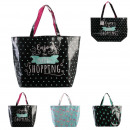 flamingo cactus shopping bag 35x15x50cm, 3-time as