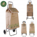 two-wheeled shopping trolley jute market, 2-time a