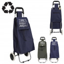 2-wheel recycling shopping trolley, 2- times assor