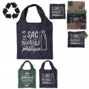 foldable shopping bag recycled 38x60cm, 2-fold ass