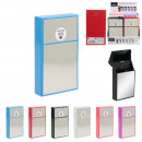 mirror slim cigarette case, 6- times assorted