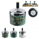 wholesale ashtray: push ashtray natural life, 3- times assorted