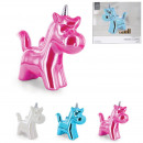 wholesale Gifts & Stationery: unicorn piggy bank, 3- times assorted
