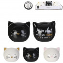 mini cat piggy bank, 6- times assorted