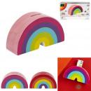 groothandel Stationery & Gifts: Regenboog spaarpot, 2- maal geassorteerd