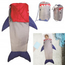sleeping bag shark child 140x60