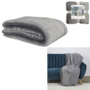 wholesale Cushions & Blankets: gray sherpa flannel blanket xxl 140x200cm