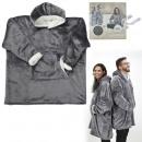 grossiste Casquette: sweat a capuche interieur sherpa gris