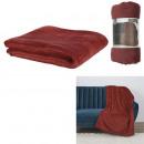 burgundy microfiber blanket 125x150cm