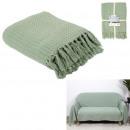 manta para sofá waffle verde agua 170x250cm