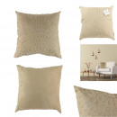 Pillow beige suedine 40x40cm, 1- times assorted
