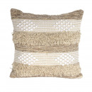 beige ethnic cushion 40x40cm, 1- times assorted