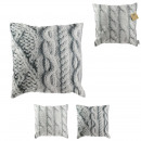 wholesale Cushions & Blankets: Pillow print knitting 40x40cm, 2- times assorted