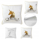 wholesale Cushions & Blankets: Unicorn Pillow 40x40cm, 2- times assorted