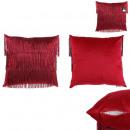 Pillow velvet fringes red gatsby 40x40cm, 1-fo