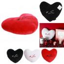 Pillow velvet heart love, 3- times assorted