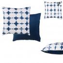 Pillow outdoor decor blue removable cover 40x40cm