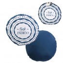 wholesale Cushions & Blankets: 40cm blue round outdoor decorative cushion