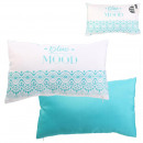 Pillow deco outdoor removable cover cyan 30x50cm